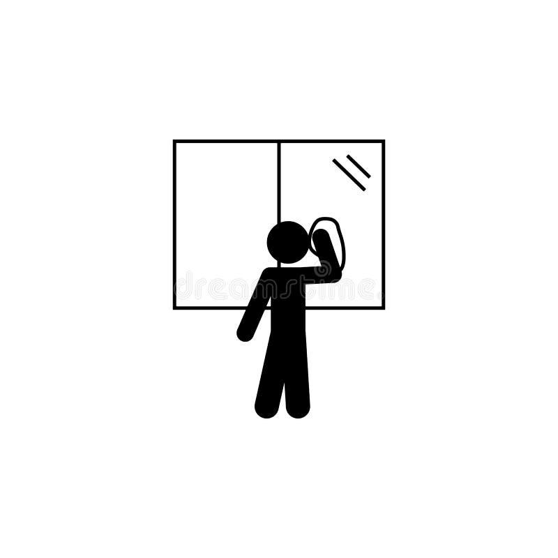 ребенок, значок окна Элемент значка ребенка собственной личности глифа независимого для мобильных приложений концепции и сети Реб бесплатная иллюстрация