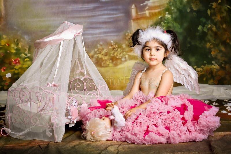 ребенок играя роль стоковое изображение