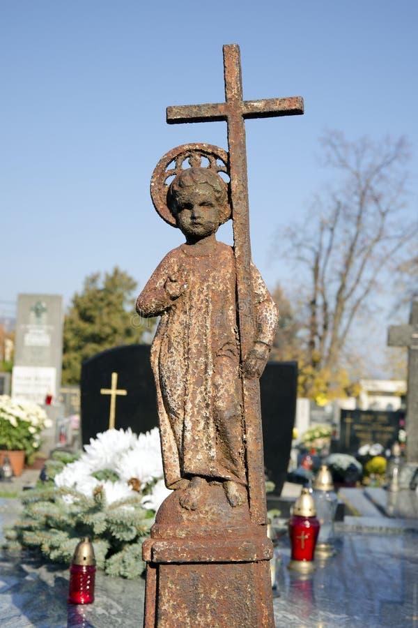 Ребенок Иисус с крестом стоковое изображение rf