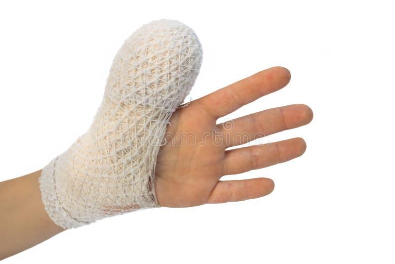 Ребенок имеет раненую руку стоковая фотография