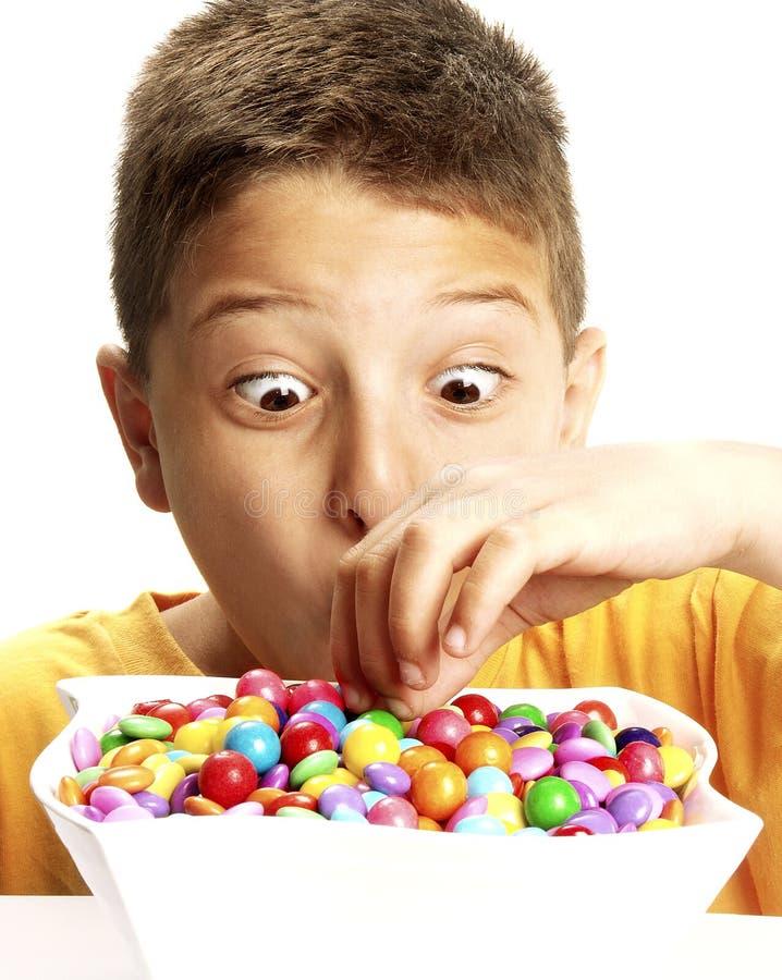 ребенок конфеты стоковые фото