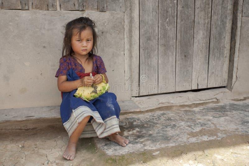 ребенок Лаос Азии стоковые фотографии rf