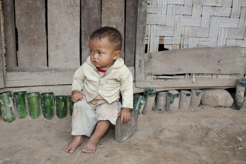 ребенок Лаос Азии стоковое изображение rf