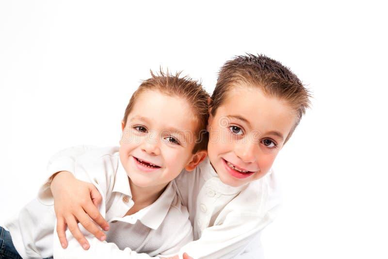 ребенок смешные 2 братьев стоковая фотография rf