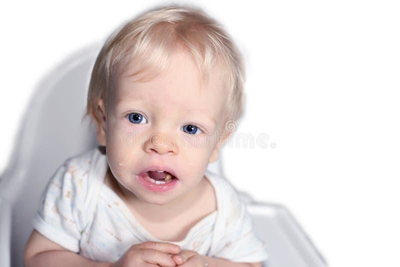 ребенок стула высокий стоковые фотографии rf