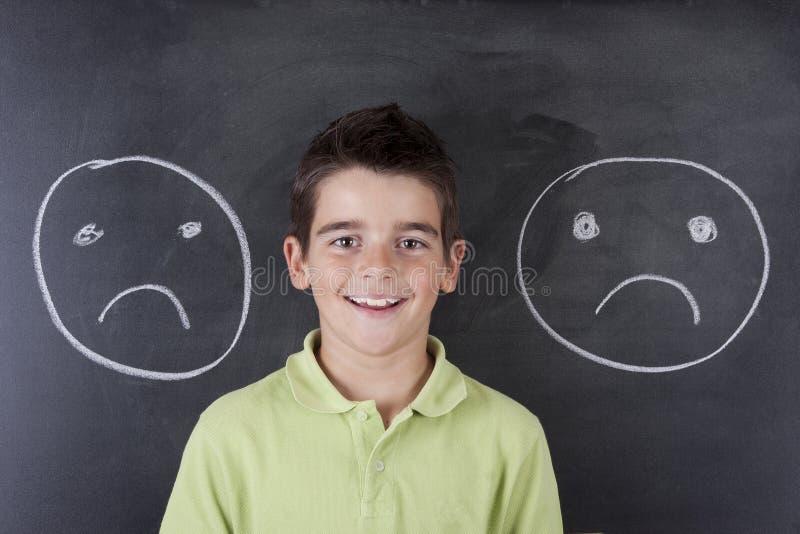 Ребенок с выражениями стоковая фотография