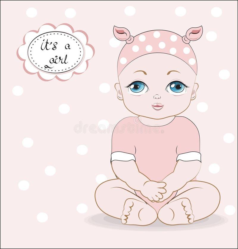 Ребенок с голубыми глазами иллюстрация штока