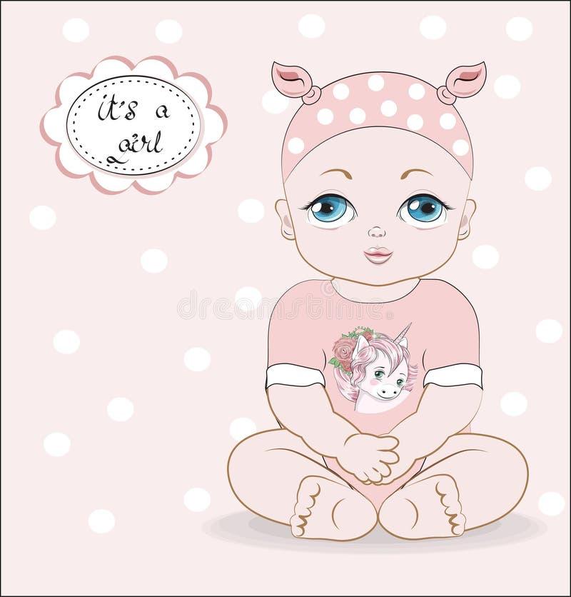 Ребенок с голубыми глазами бесплатная иллюстрация