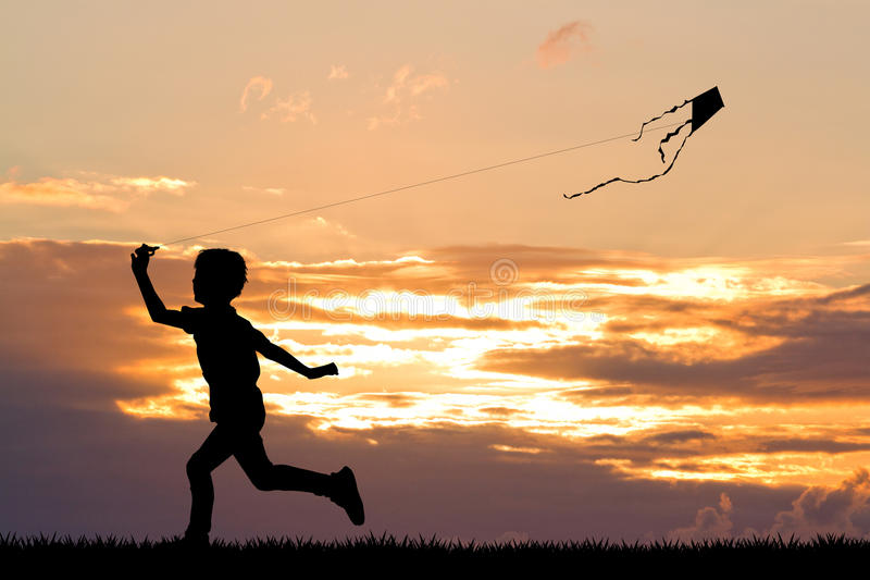 Ребенок с змеем бесплатная иллюстрация