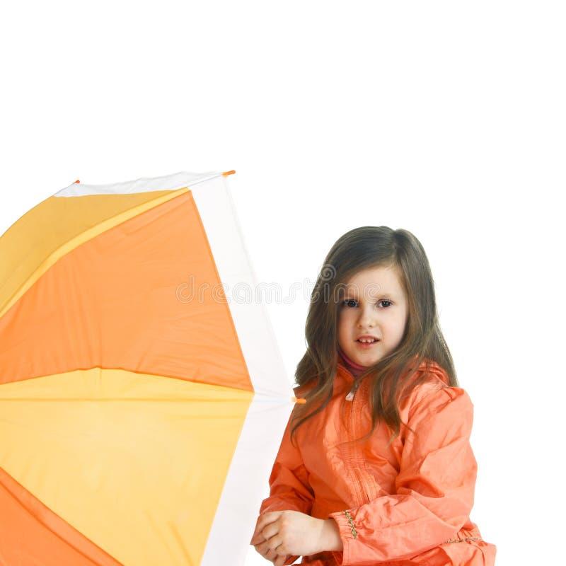 Ребенок с зонтиком стоковое фото rf