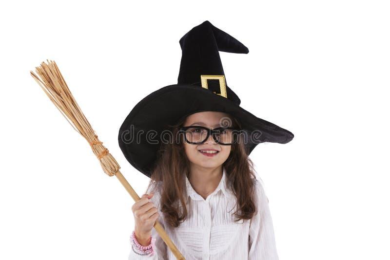 Ребенок с шляпой хеллоуина стоковые изображения rf