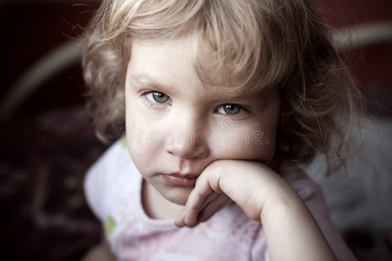 ребенок унылый стоковое фото rf