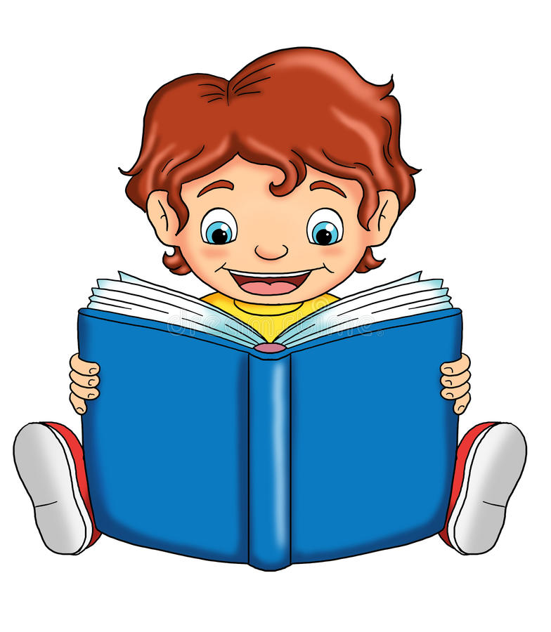 ребенок читает иллюстрация вектора