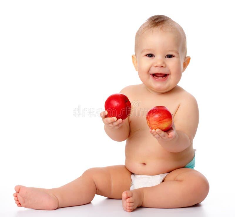 Download ребенок яблока немногая стоковое фото. изображение насчитывающей аппликатора - 18400006