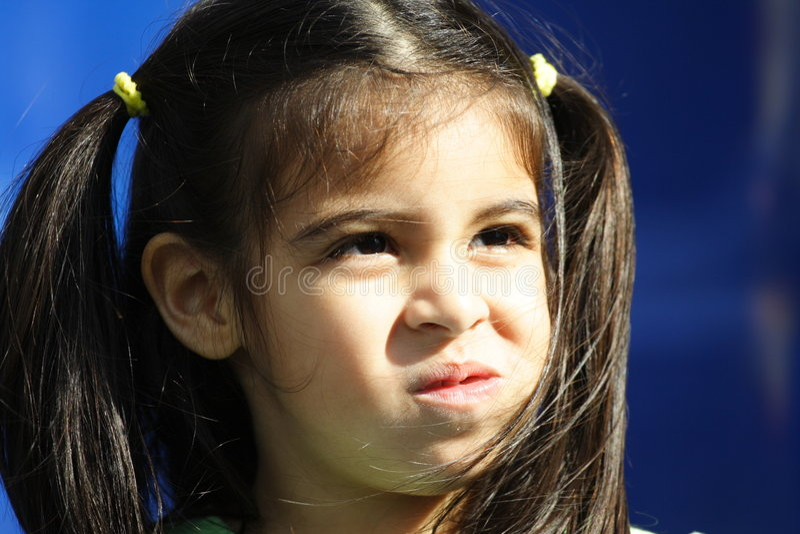 ребенок displeased стоковое изображение rf