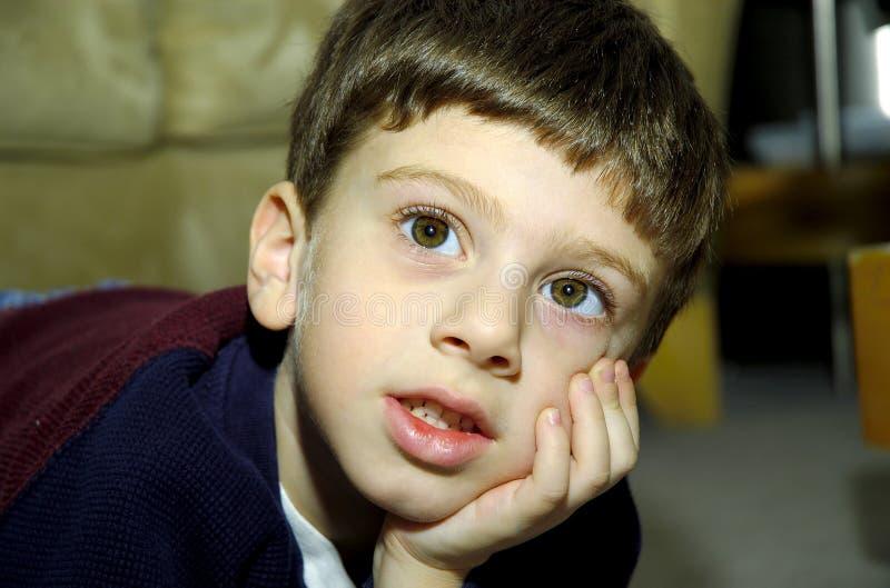 ребенок Eyed широко Стоковая Фотография