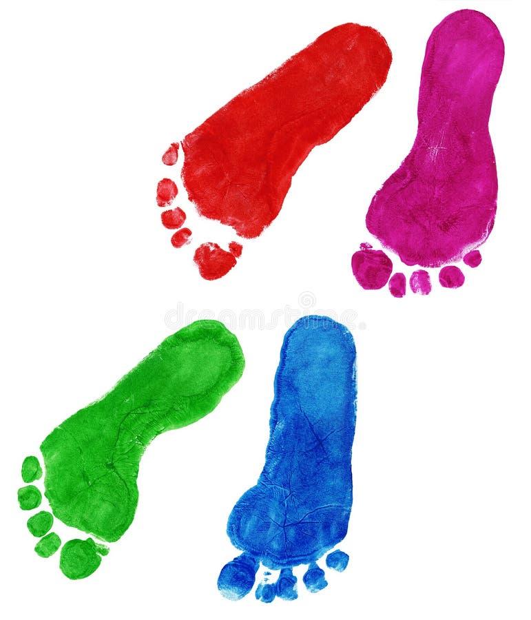 ребенок foots печать иллюстрация штока