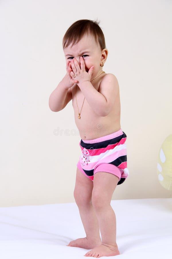 Ребёнок выкрика стоковое фото rf