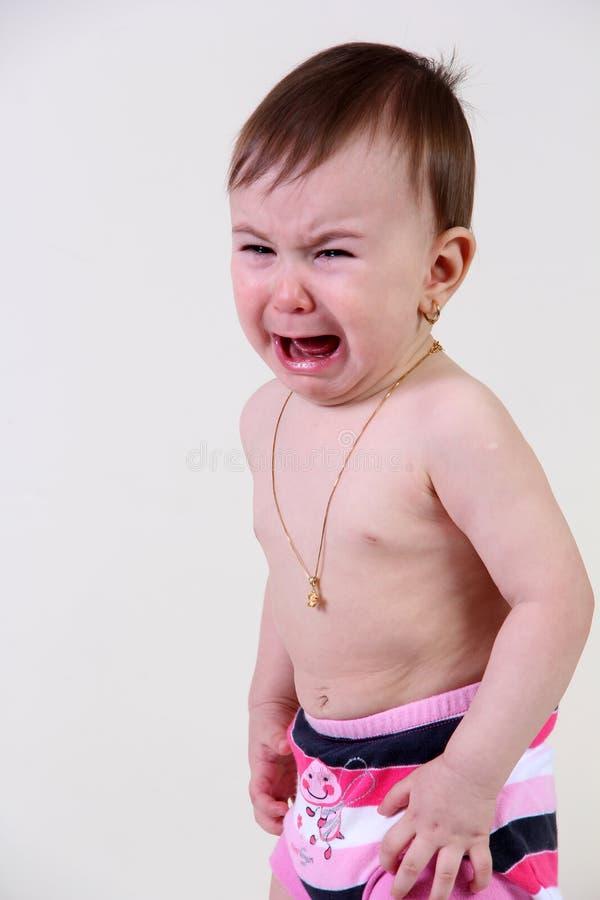 Ребёнок выкрика стоковые фотографии rf
