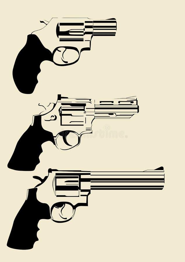 Револьверы иллюстрация штока