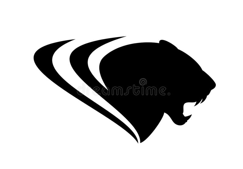 Ревя голова вектора черной пантеры бесплатная иллюстрация