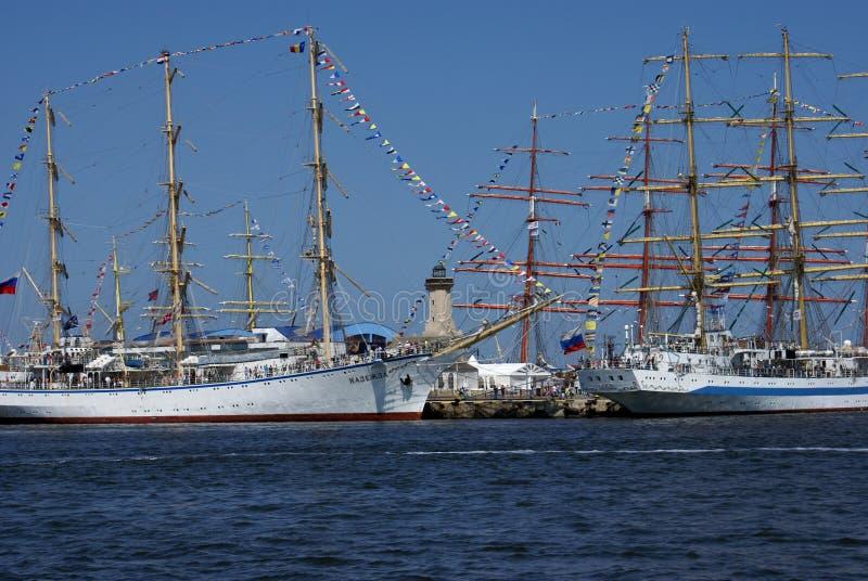 Регата 2014 кораблей Чёрного моря высокорослая стоковые фото