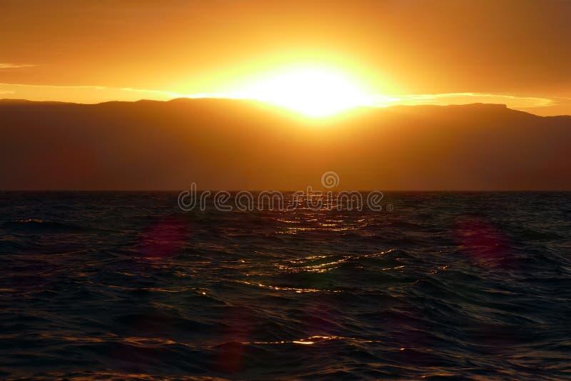 Регата плавания на заходе солнца стоковая фотография rf