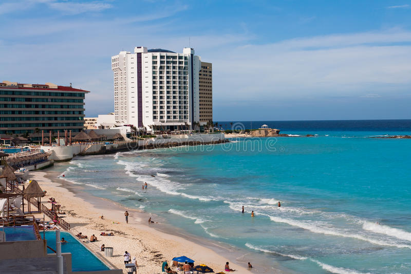 регентство hyatt гостиницы cancun стоковое фото