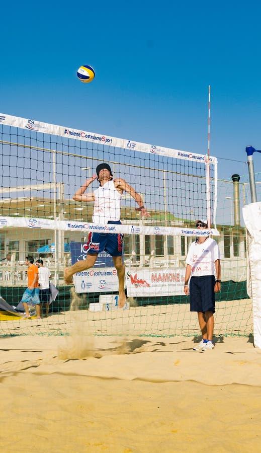 Региональный турнир волейбола пляжа стоковая фотография rf