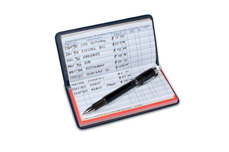 регистратура чеков чекового стоковое фото