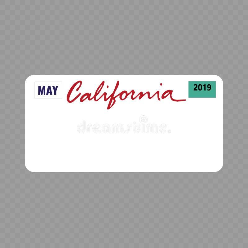 Регистрационная табличка регистрации транспортного средства бесплатная иллюстрация