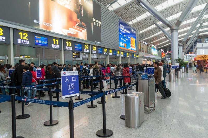 Регистрация авиапорта города Guiyang стоковые фотографии rf