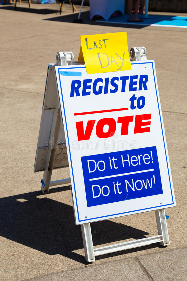 Регистрация избирателя в университете  Орегона стоковое фото