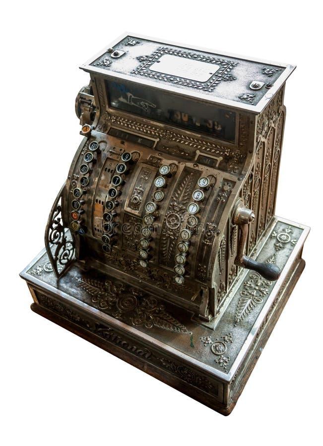 регистр наличных дег старый стоковое изображение rf