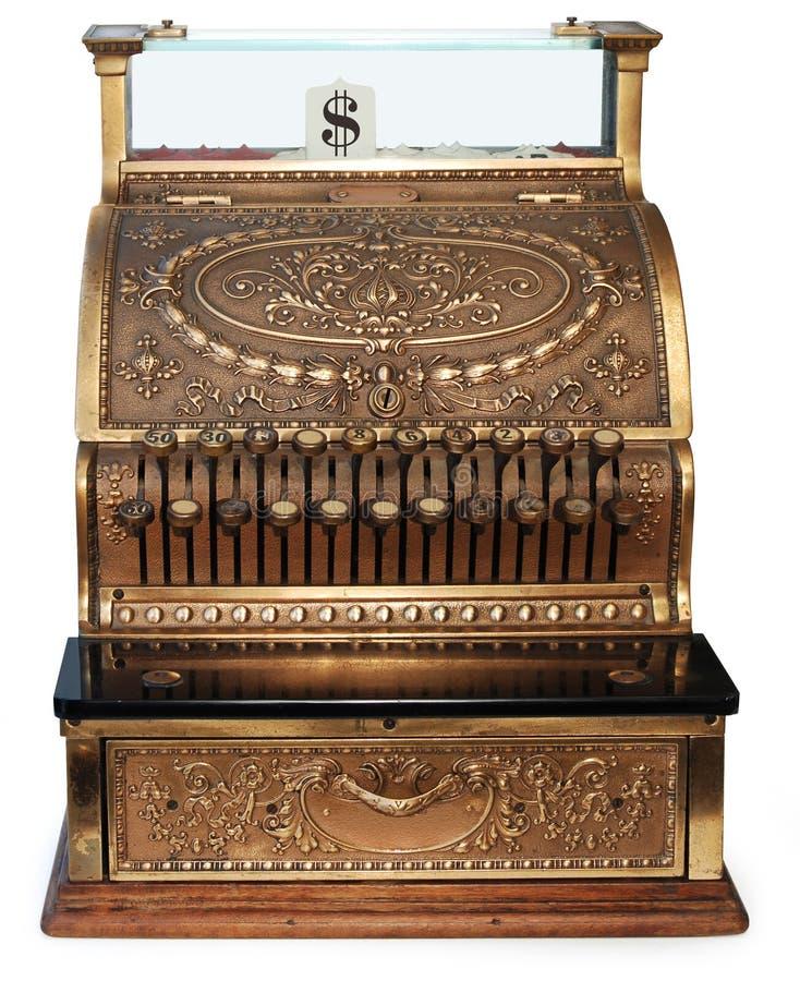 регистр фасонируемый наличными деньгами старый правописный стоковое фото