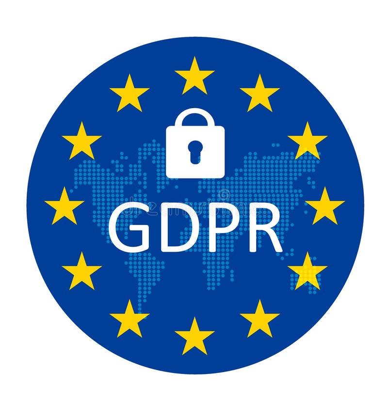 Регулировка защиты данных GDPR общая бесплатная иллюстрация