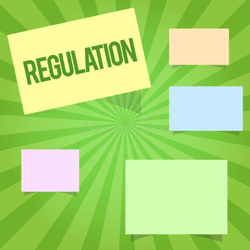 Регулировка сочинительства текста почерка Закон или директива правила смысла концепции сделанный и поддержанный властью иллюстрация вектора