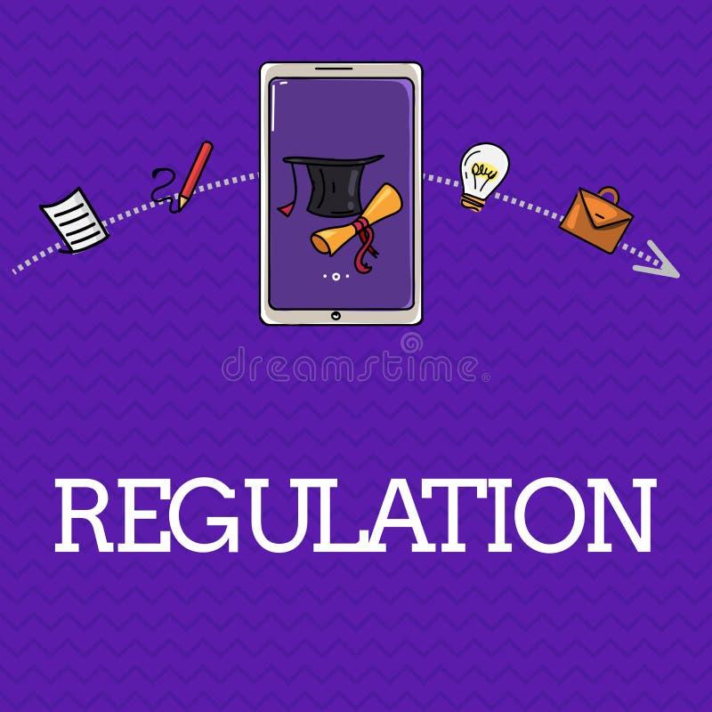 Регулировка текста почерка Закон или директива правила смысла концепции сделанный и поддержанный властью бесплатная иллюстрация