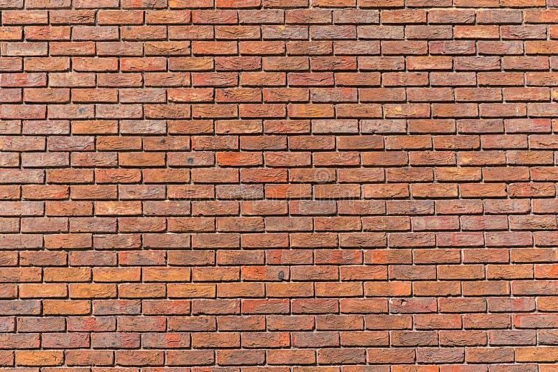 Регулярно красная кирпичная стена стоковое изображение
