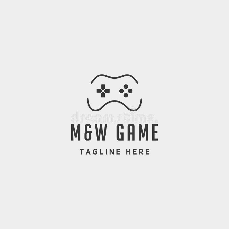 регулятор концепции шаблона дизайна логотипа игры MW письма иллюстрация штока
