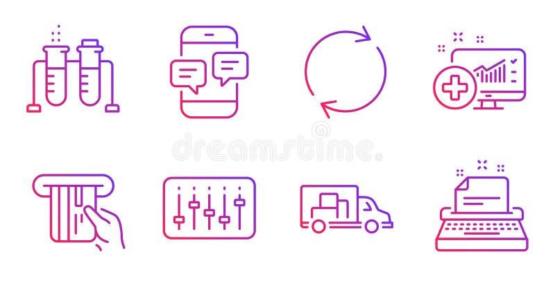 Регулятор Dj, медицинский аналитик и кредитная карточка набор значков r бесплатная иллюстрация