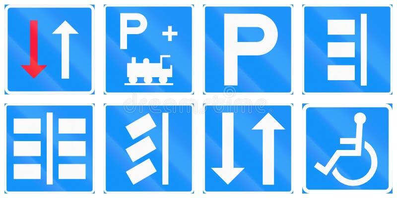 Регулирующие дорожные знаки в Финляндии иллюстрация штока