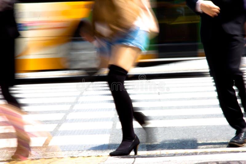 Регулярные пассажиры пригородных поездов города токио стоковое фото rf