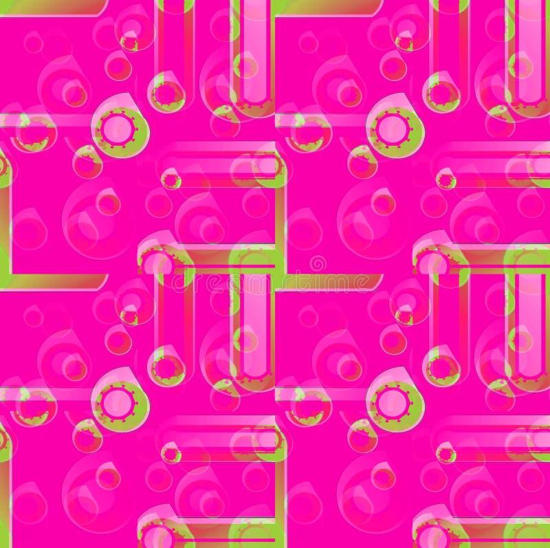 Регулярн круги делают по образцу magenta фиолетовый розовый зеленый запачканный overlaying бесплатная иллюстрация