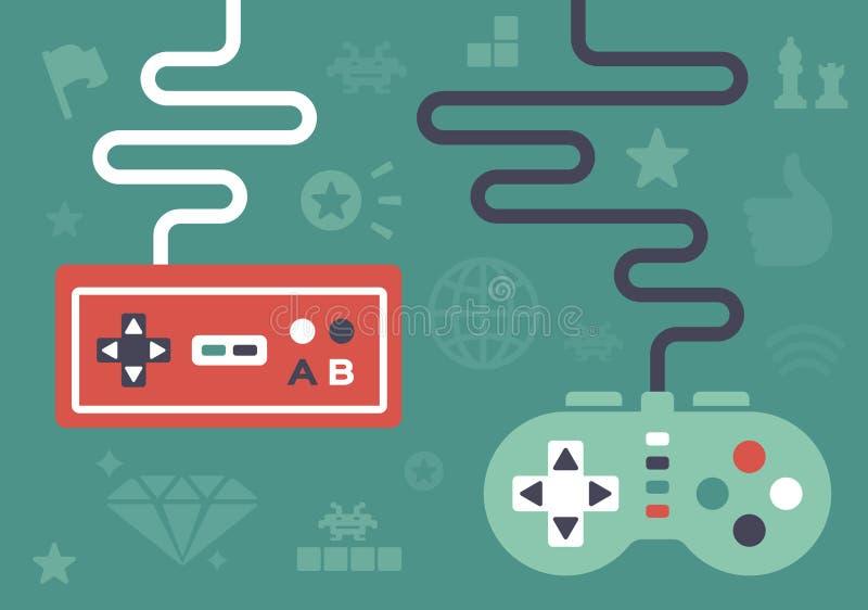 Регуляторы игры иллюстрация вектора