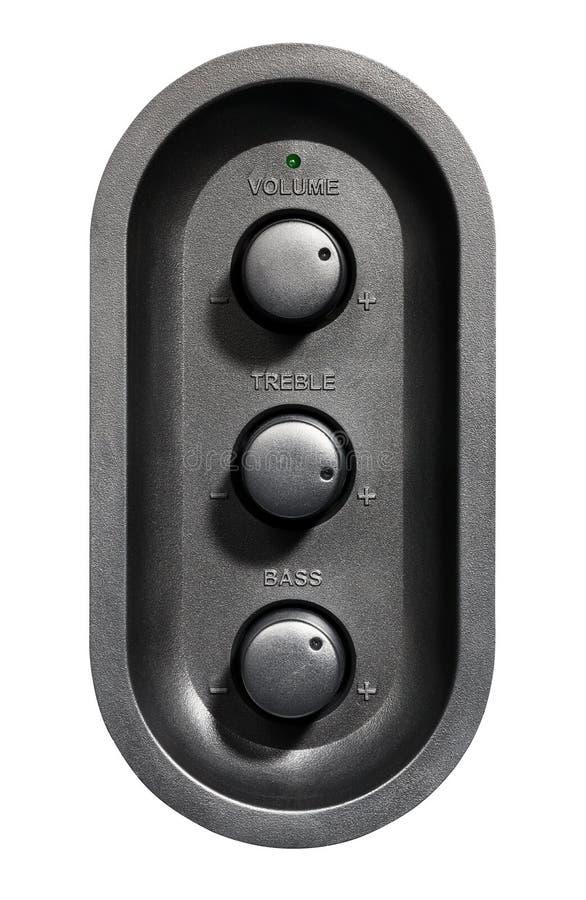 Регулятор звука стоковое фото rf