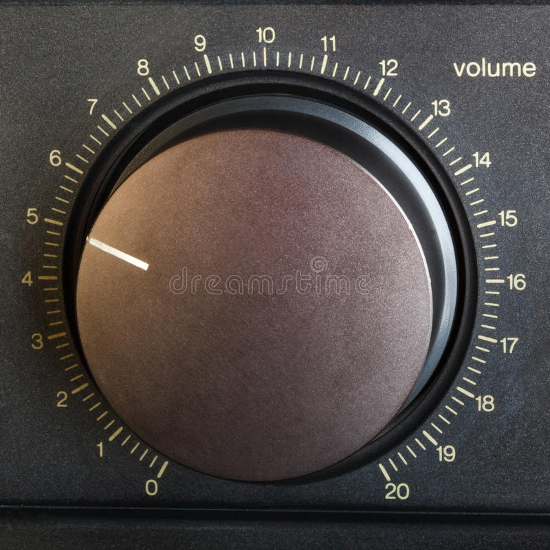 Регулятор звука стоковая фотография