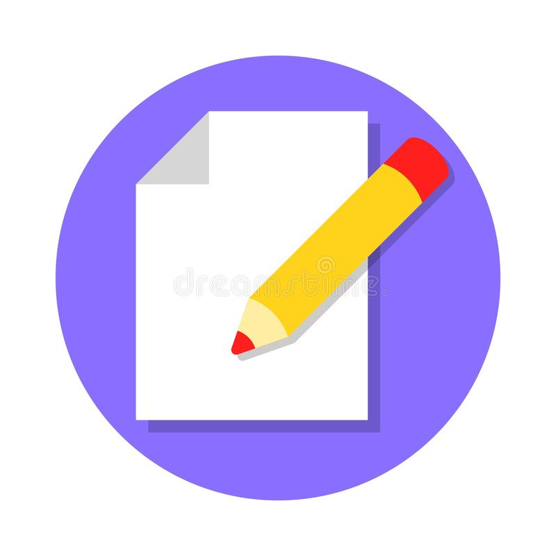 Редактируйте значок документа иллюстрация штока