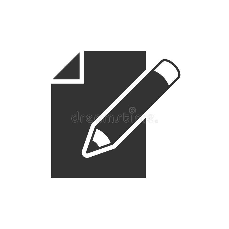 Редактируйте значок черноты документа бесплатная иллюстрация
