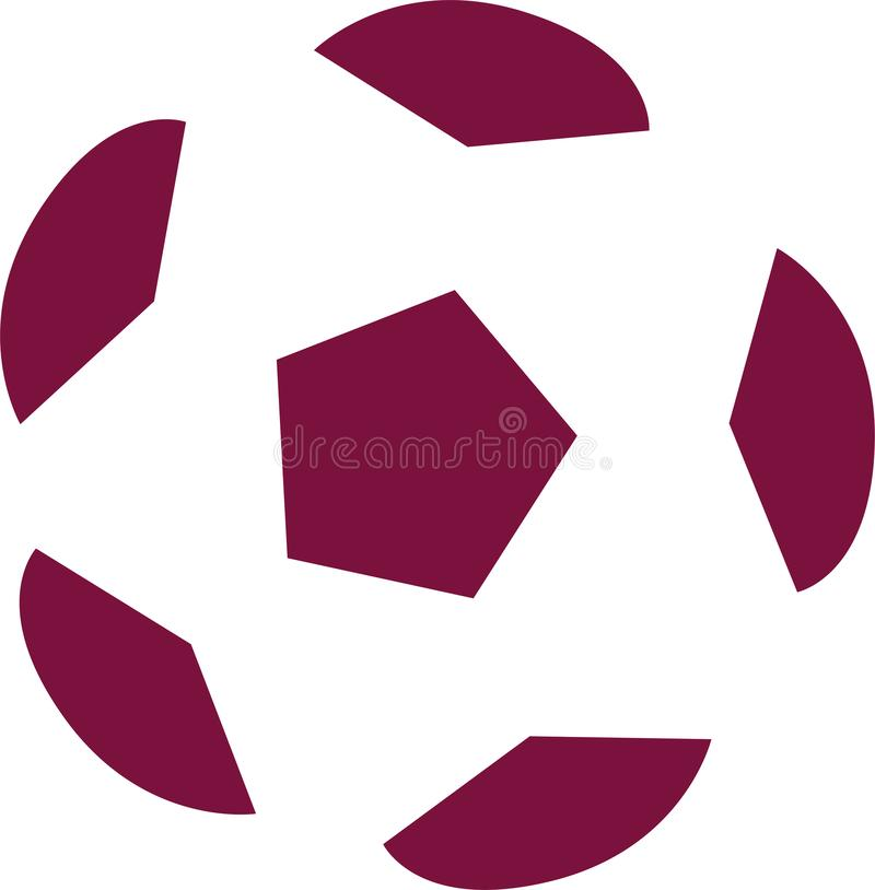 Редакционный - футбол пурпура и белых на кубок мира 2022